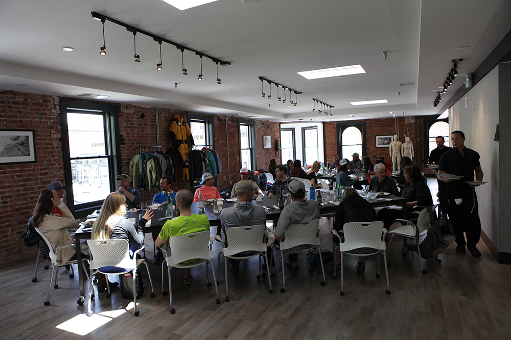 It was a full house of outdoor media at TNF's Spring/Summer 2017 preview, held on May 11 at the brand's new design center in Boulder, CO.
