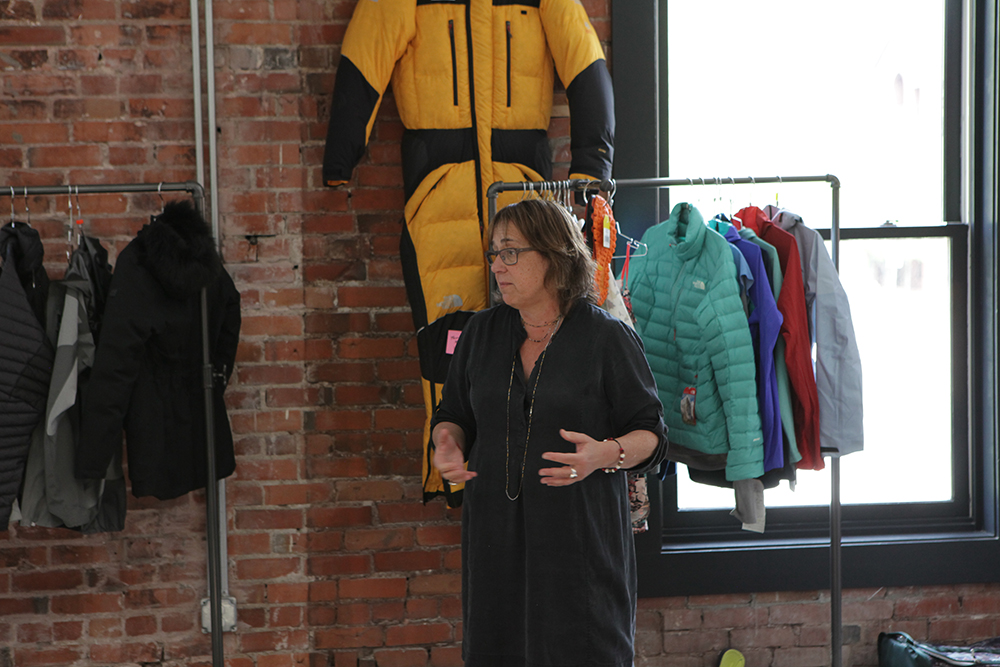 Ann Krcik, senior director, brand communication and outdoor exploration, at The North Face helped organize the event and made introductions to TNF's product and athlete teams.
