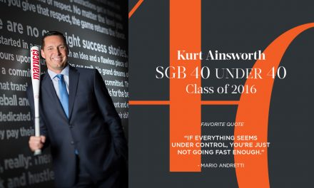 Kurt Ainsworth, SGB 40 Under 40 Class of 2016