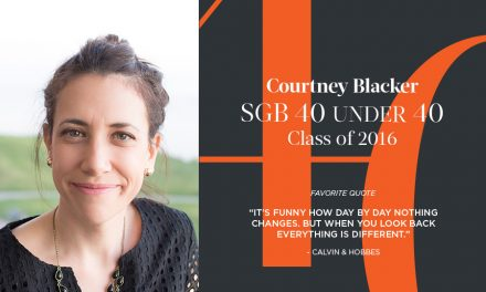 Courtney Blacker, SGB 40 Under 40 Class of 2016