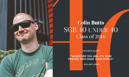 Colin Butts, SGB 40 Under 40 Class of 2016