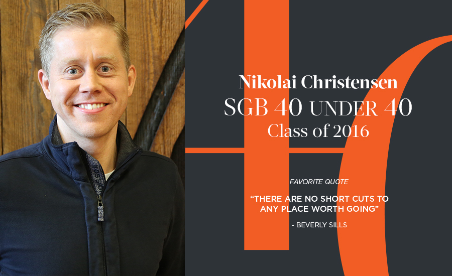 Nikolai Christensen, SGB 40 Under 40 Class of 2016