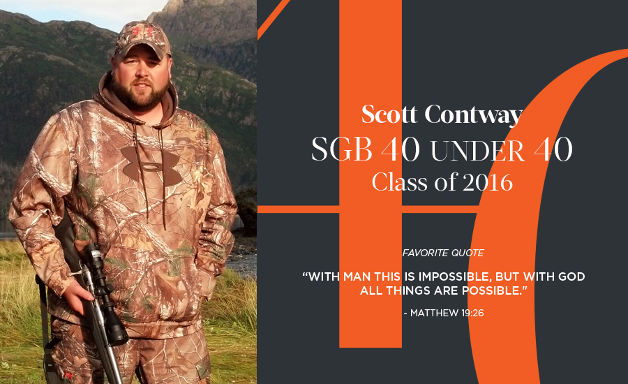 Scott Contway, SGB 40 Under 40 Class of 2016