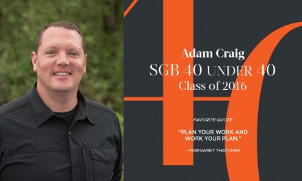 Adam Craig, SGB 40 Under 40 Class of 2016