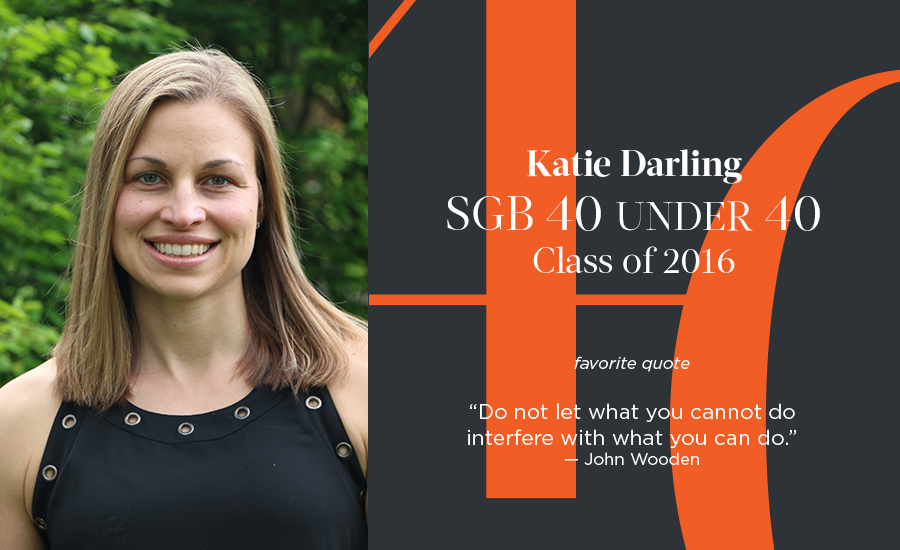 Katie Darling, SGB 40 Under 40 Class of 2016