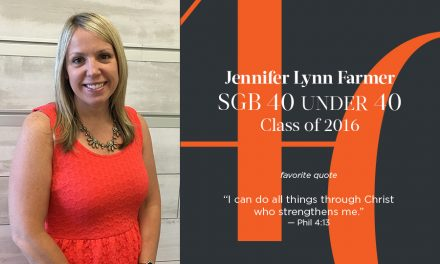 Jennifer Lynn Farmer, SGB 40 Under 40 Class of 2016