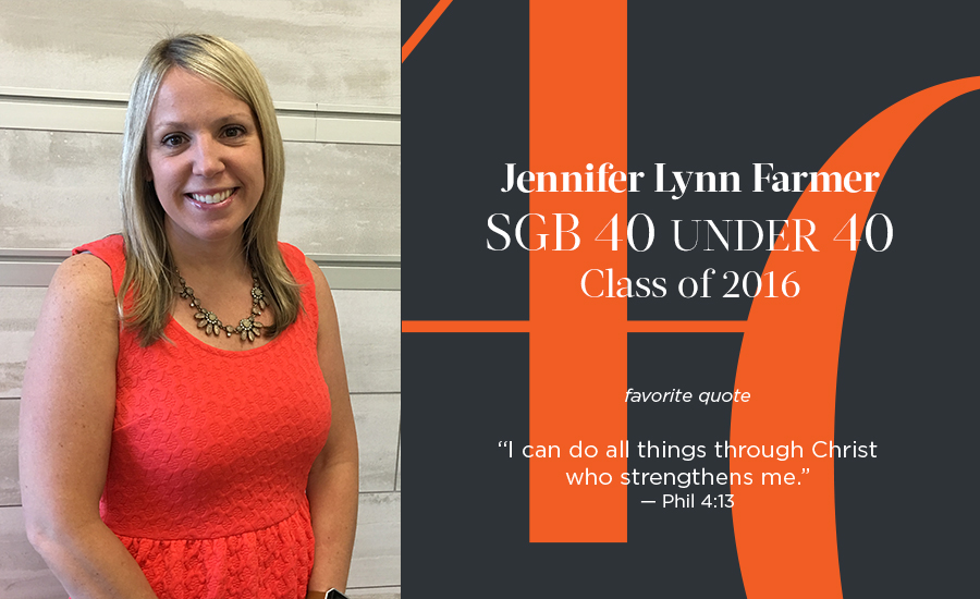 Jennifer Lynn Farmer, SGB 40 Under 40 Class of 2016