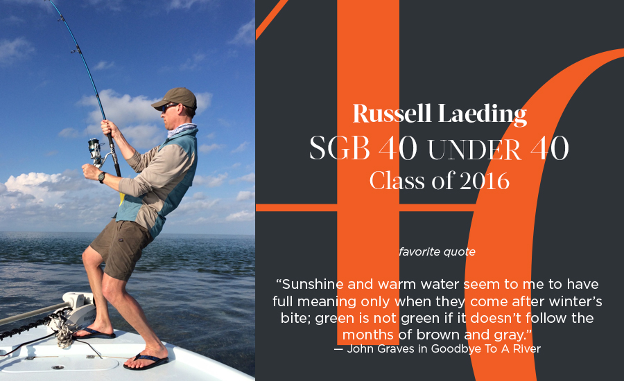 Russell Laeding, SGB 40 Under 40 Class of 2016