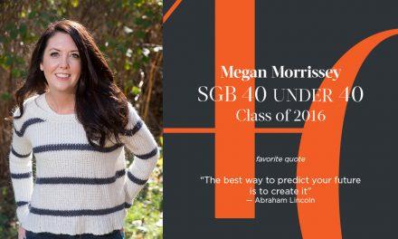 Megan Morrissey, SGB 40 Under 40 Class of 2016