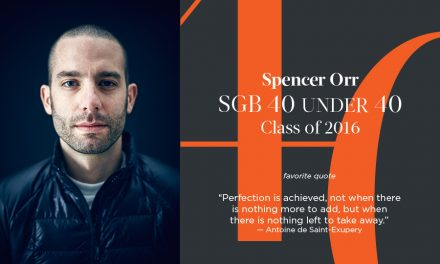 Spencer Orr, SGB 40 Under 40 Class of 2016