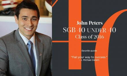 John Peters, SGB 40 Under 40 Class of 2016