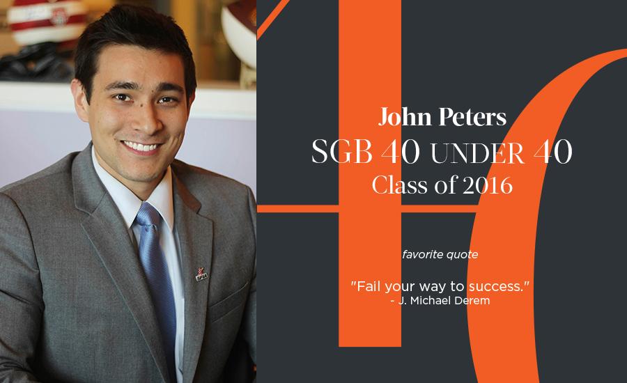 John Peters, SGB 40 Under 40 Class of 2016