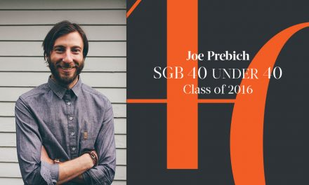 Joe Prebich, SGB 40 Under 40 Class of 2016