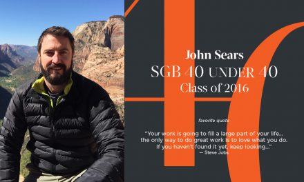 John Sears, SGB 40 Under 40 Class of 2016