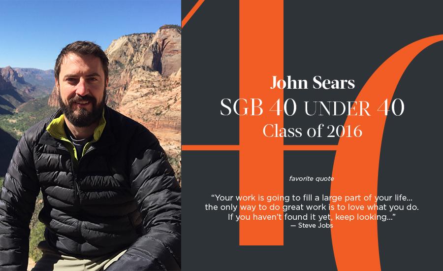 John Sears, SGB 40 Under 40 Class of 2016