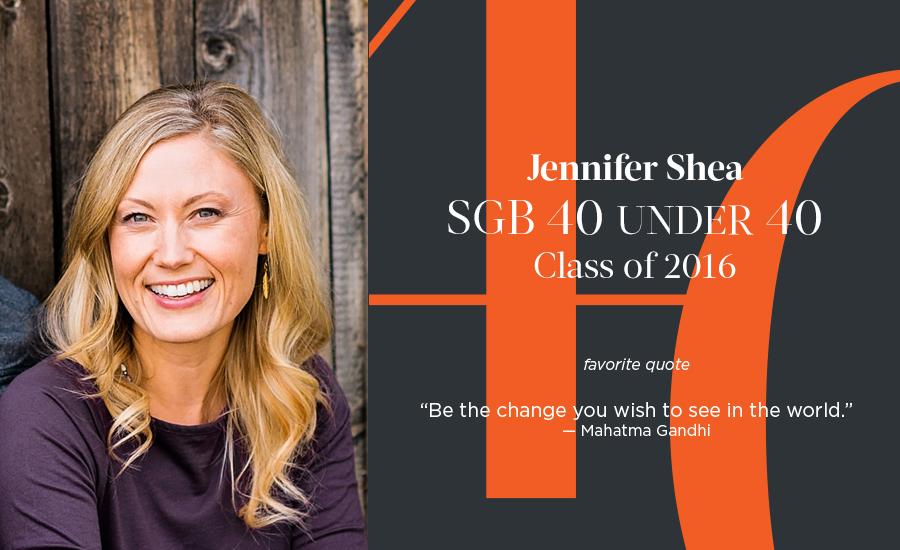 Jennifer Shea, SGB 40 Under 40 Class of 2016