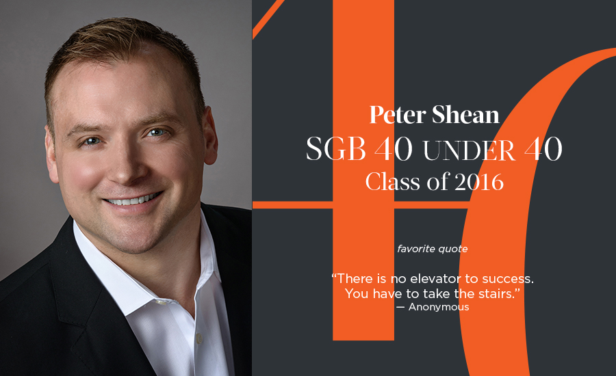 Peter Shean, SGB 40 Under 40 Class of 2016