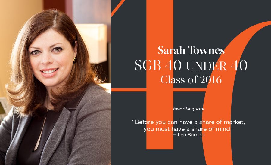 Sarah Townes, SGB 40 Under 40 Class of 2016