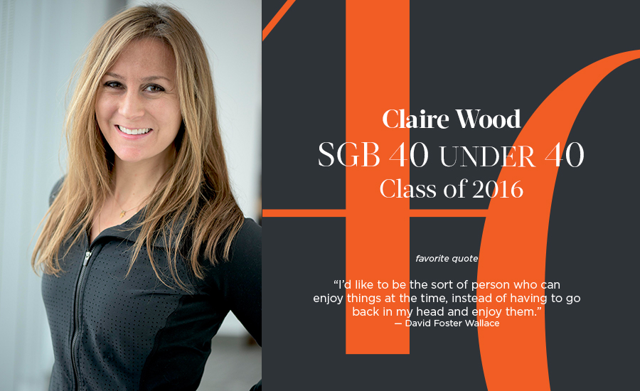 Claire Wood, SGB 40 Under 40 Class of 2016