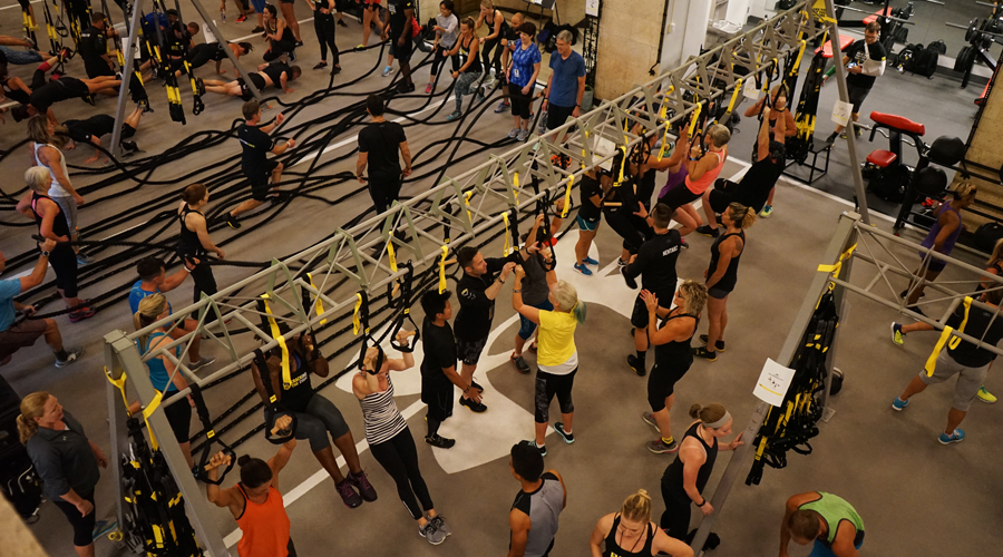 Putting the science to practice at the TRX Under Armour event in September at Under Armour corporate headquarters