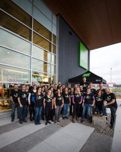 Employees will open MEC's newest store in Laval, Quebec to the public Saturday.