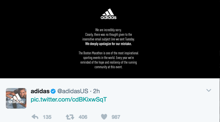d0ced042d Adidas Stirs Anger With Boston Survivors E Mail Sgb