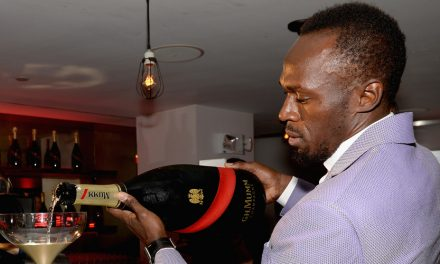 Usain Bolt Trades Track Spikes For Champagne Flutes