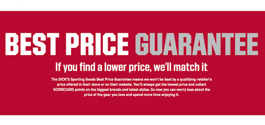 Dick's Amps Up Price Match Guarantee