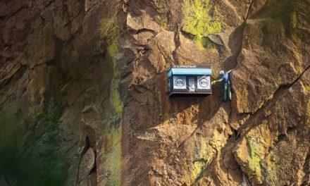 Cliffside Shop Pops Up On Rock Wall