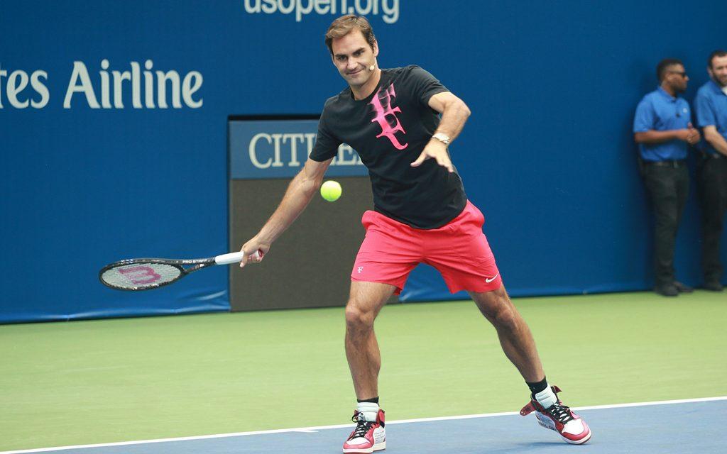 Roger Federer Shows Off Nike's Virgil Abloh Collab