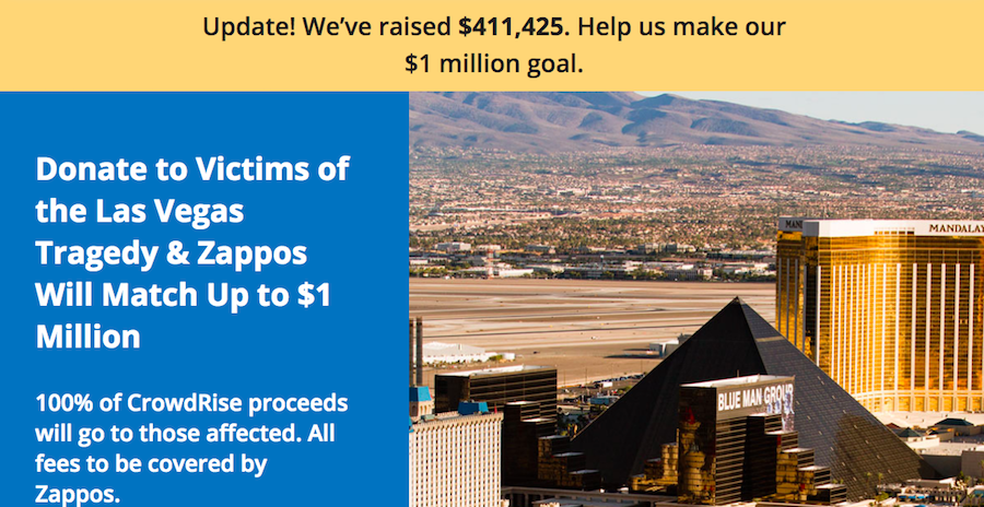 Zappos Offers To Cover Funeral Costs Of Las Vegas Victims