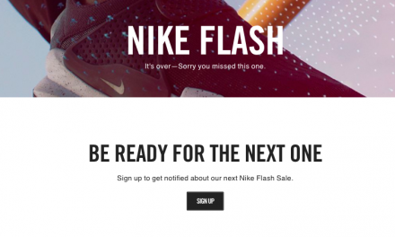 Nike Runs Rare Flash Sale