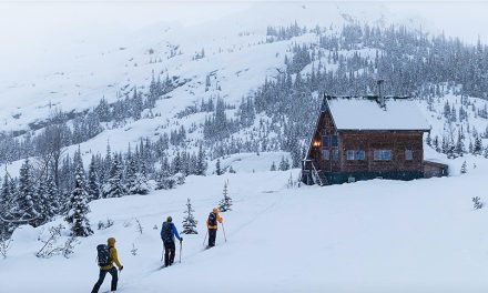 Alpine Magic: Burnie Glacier Chalet Winter Hut