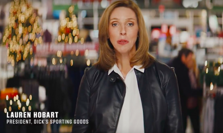 Lauren Hobart Makes Appearance In Dick's Holiday Campaign