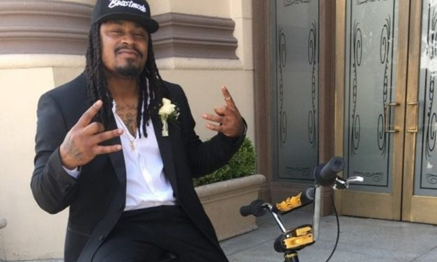 Marshawn Lynch Shifts Into Bike Mode