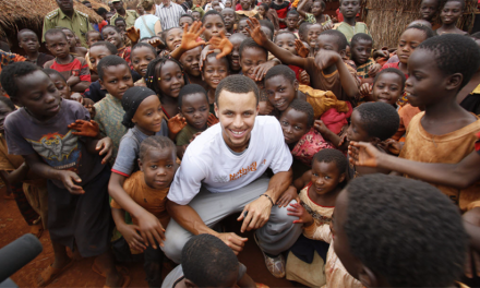 Stephen Curry Squares Off Against Malaria