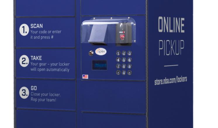 Fanatics Opens Pick-Up Lockers At NBA Store
