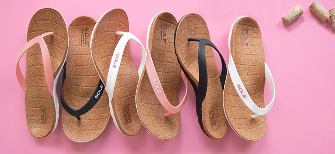 Footwear Innovation: SOLE Recycled Cork Sandal