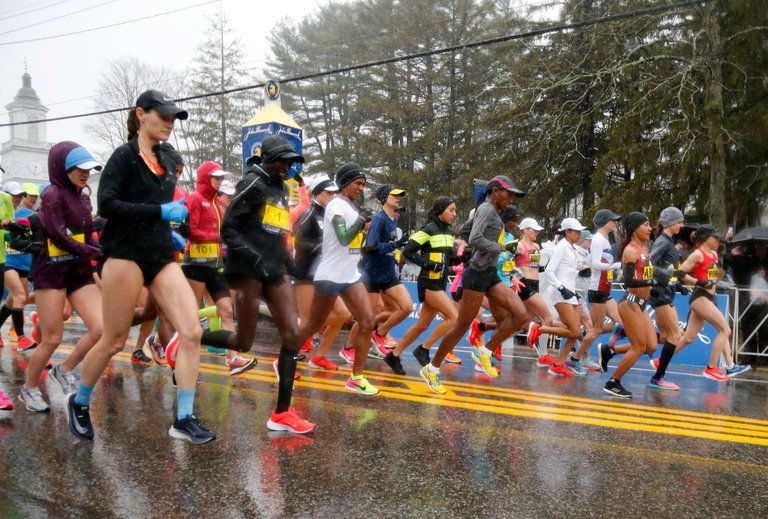 Boston Marathon victor Desiree Linden first American woman to win since 1985