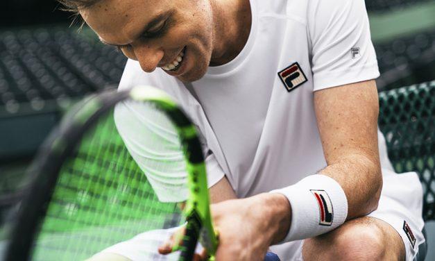 Fila Holding Serve At Wimbledon 2018
