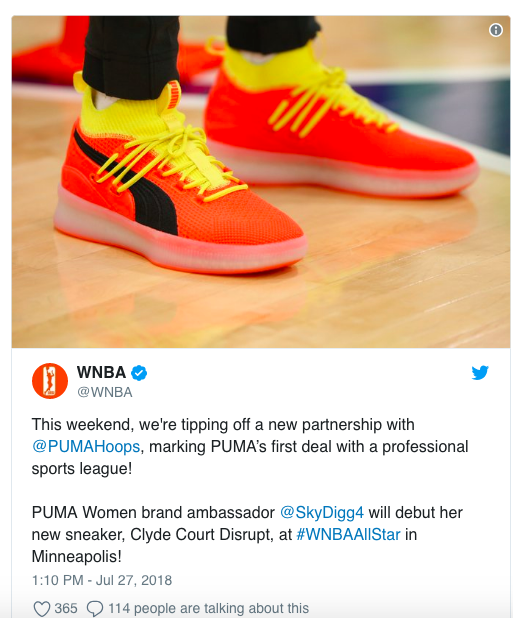 The Women s National Basketball Association (WNBA) signed a league-wide  footwear deal with Puma. The deal represents Puma s first with a  professional sports ... 3c6c09545