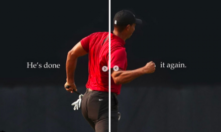 Nike Celebrates Tiger Woods First Win In Five Years