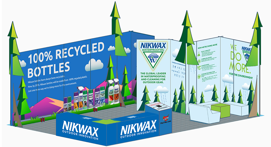 Nikwax Raises The Bar On Sustainable Booth Design At Summer OR