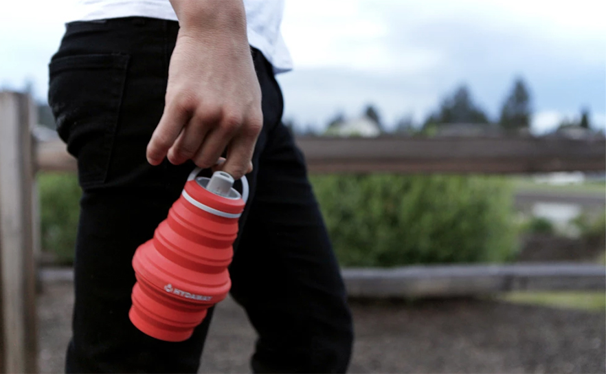 Hydaway Water Bottle … Collapsible, Stashable, Planet-Friendly, Go-Anywhere
