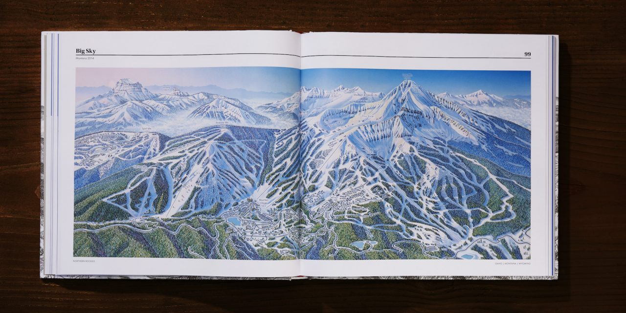 New Iconic Coffee Table Book, The Man Behind The Maps: Legendary Ski Artist James Niehues  Now Available