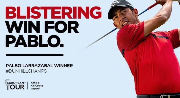 Callaway Apparel Ambassador Pablo Larrazabal Fought To The End To Win His Fifth European Title With A One-Shot Victory At The Alfred Dunhill Championship