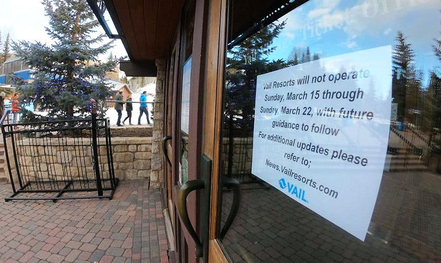 Coronavirus Closes Ski Resorts