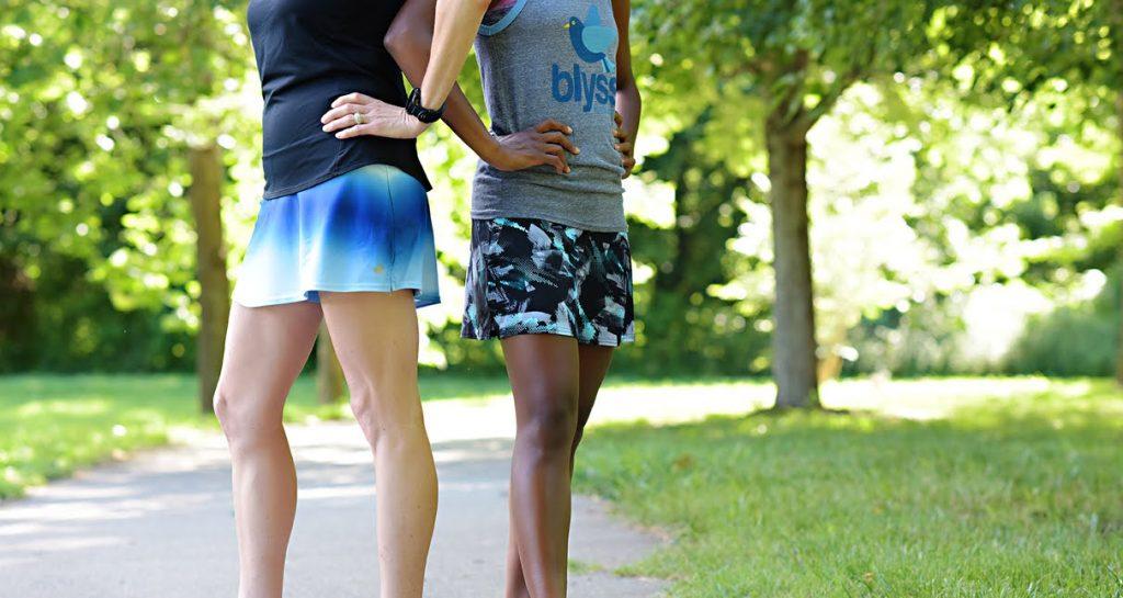 Runners wearing Blyss Running apparel