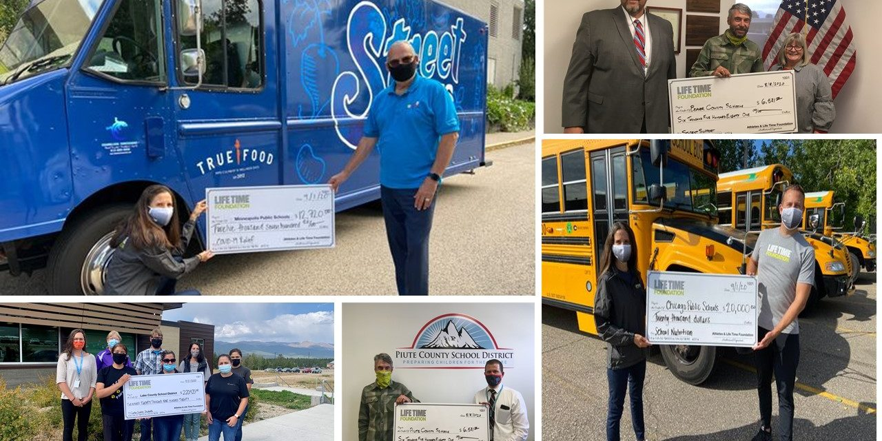 Athletes Partner With Life Time Foundation; Give More Than $320,000 To School Food Programs