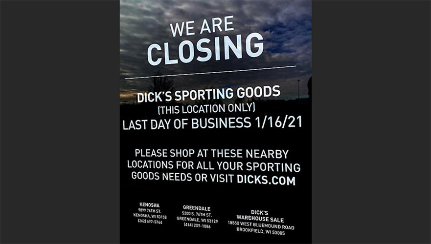 Dick's SG To Close Clearance Outlet In Wisconsin